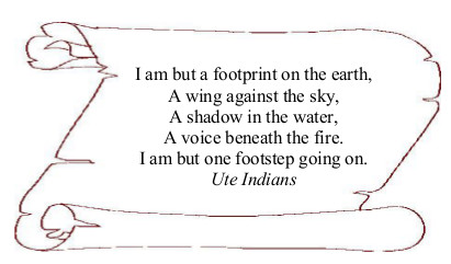 I am but a footprint on the earth